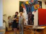Our English speaking guide Irina Nivina with Zurab Tsereteli in his gallery in Moscow