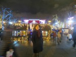Our English speaking guide Larissa Frantsuzova in New Year Moscow