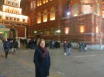 Our English speaking guide Larissa Frantsuzova near Kremlin